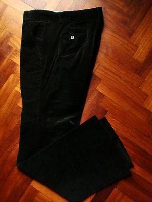 Foto Zara-pantalon Negro De Pana -talla 42