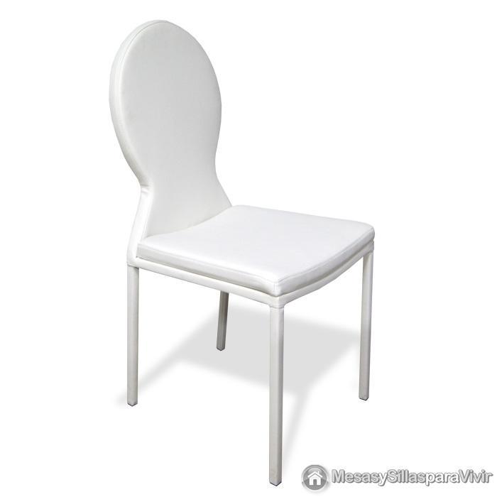 Foto 4 unidades de silla de comedor blanca mod laos foto for Sillas de comedor blancas