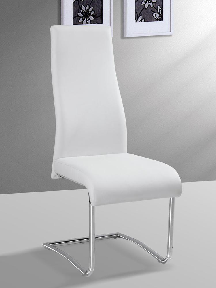 Foto 4 unidades de silla de comedor blanca mod laos foto for Sillas altas para comedor
