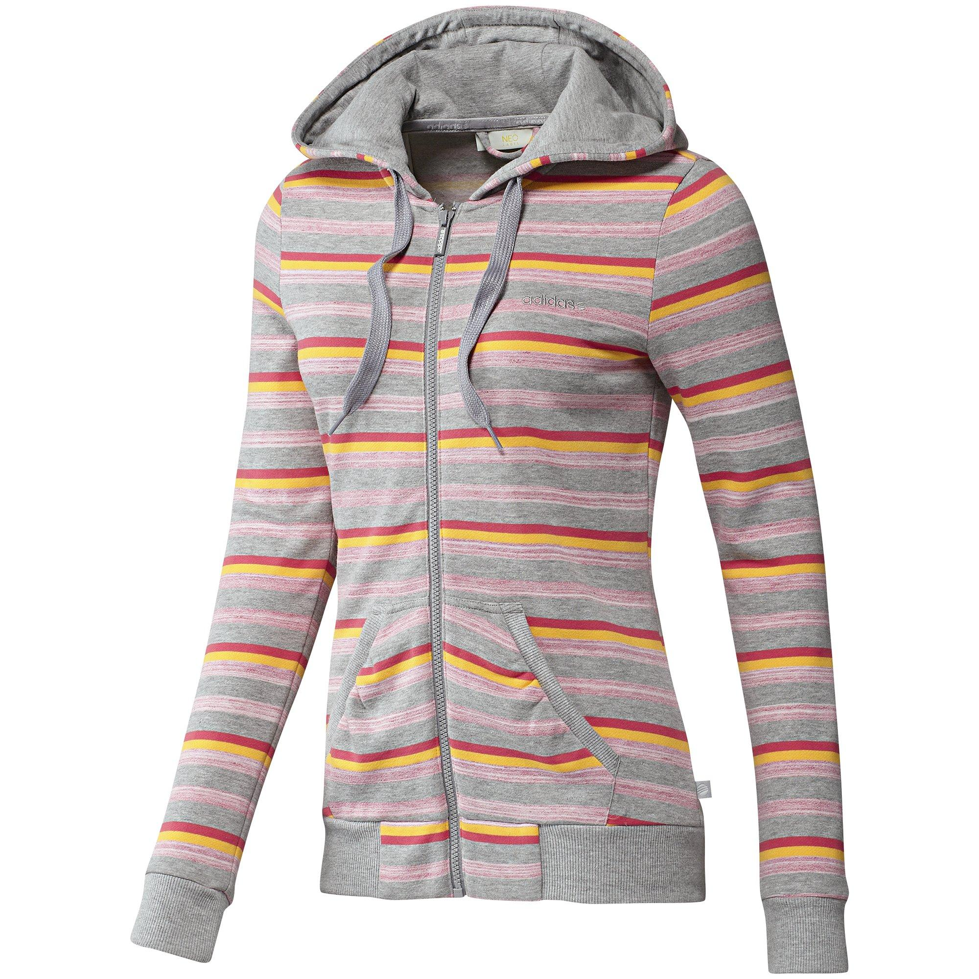 Foto adidas Chaqueta con capucha Striped Fleece Mujer