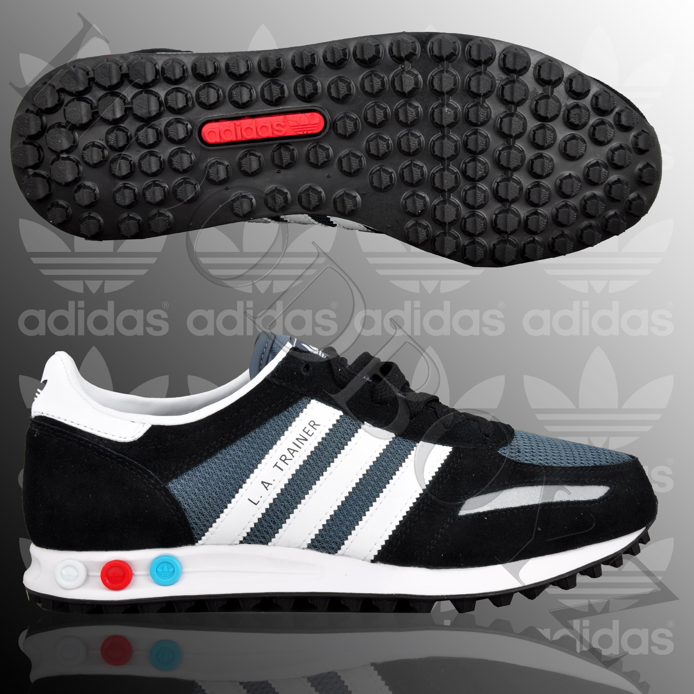 finest selection c7469 4e455 ADIDAS-LA-Trainer-Zapatillas-Azul-Oscuro-Azul-Blanco-75975-0-3
