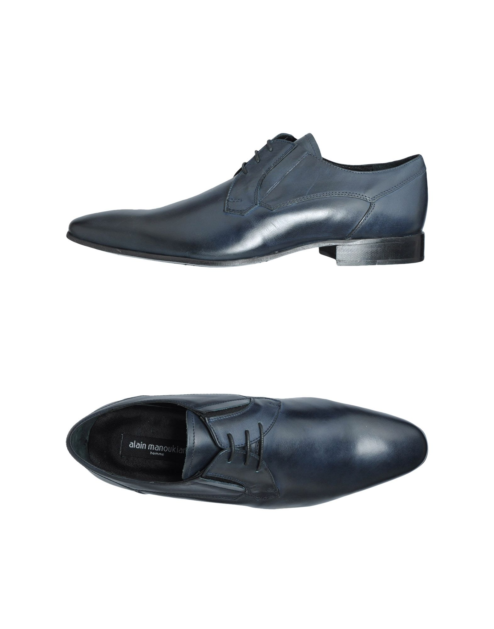 Alain Cordones Oscuro Hombre Zapatos Azul Homme Foto Manoukian De ywvn0O8mN