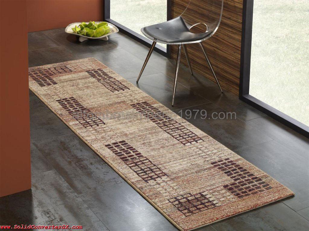 Foto alfombra lana moderna pasillo cuadritos cen 2216 foto - Alfombras para pasillo ...