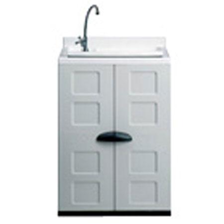 Foto armario de resina con lavadero foto 213355 for Lavadero metalico