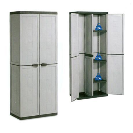 Foto armario escobero resina alto kis foto 394145 - Armarios de pvc para exterior ...