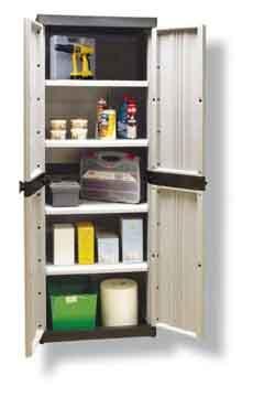 Foto armario resina para exterior 4 estantes serie - Armario exterior resina ...