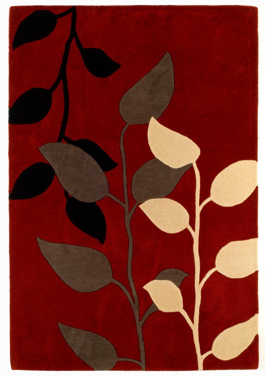 Foto benuta alfombra de dise o matrix lana rojo 200x300 cm foto 101490 - Alfombra 200x300 ...