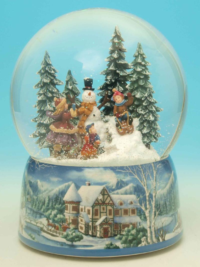 Foto bola de nieve patinadores foto 44003 - Bola nieve cristal ...