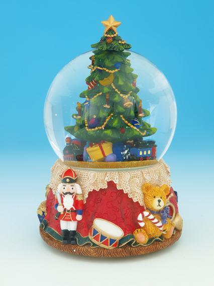 Foto bolas de nieve musicales bola de agua de cristal - Arbol navidad nieve ...