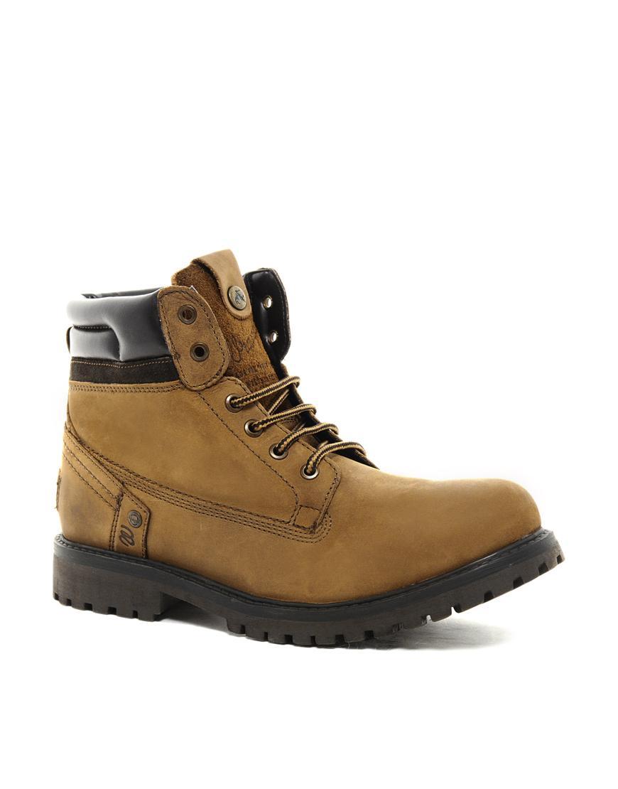 Foto botas de trabajo creek de wrangler marr n foto 358543 - Calzado de trabajo ...