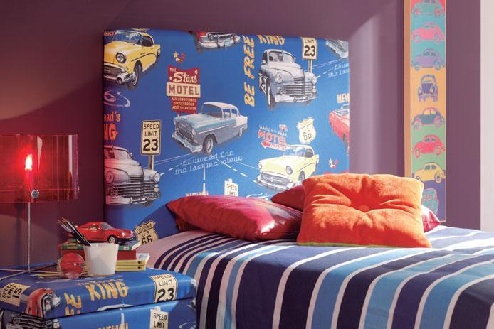 Foto cabecero tapizado tela gris barato foto 120477 for Cabeceros cama juvenil