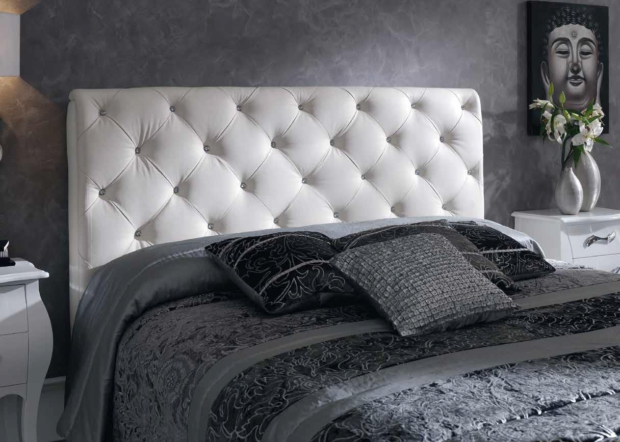 Foto cabecero capitone blanco nelly 150 foto 325853 - Cabeceros de cama tapizados en piel ...