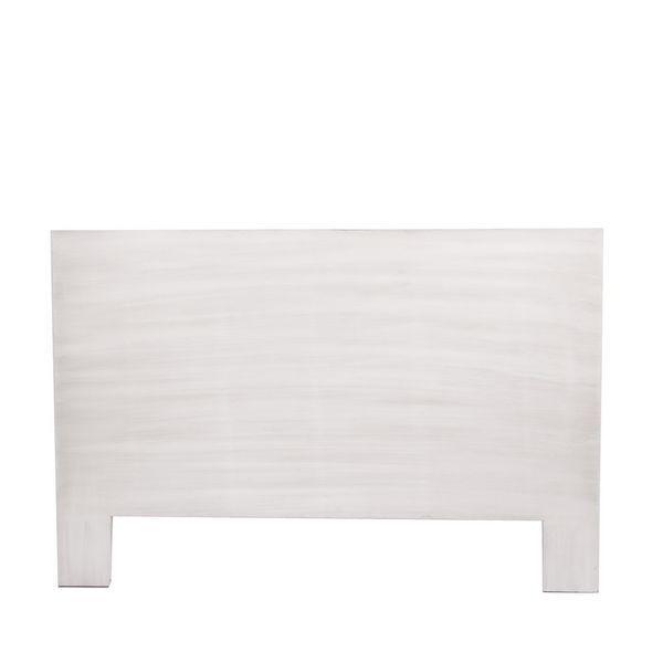 Foto cabecero para cama de 135 decapado blanco manacor for Cabecero blanco madera