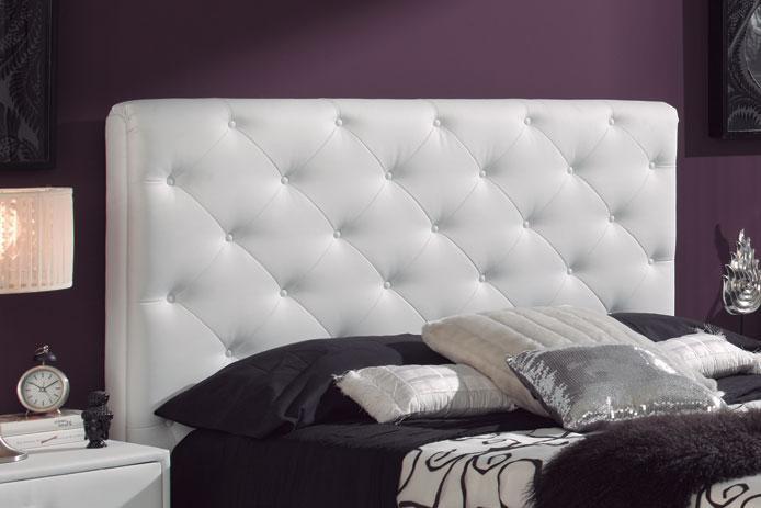 Foto cabecero tapizado blanco barato foto 745742 for Cabeceros tapizados fotos