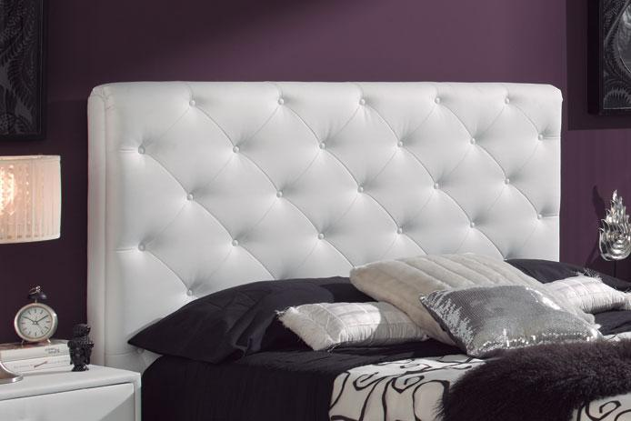 Foto cabecero tapizado blanco barato foto 745742 - Imagenes de cabeceros tapizados ...