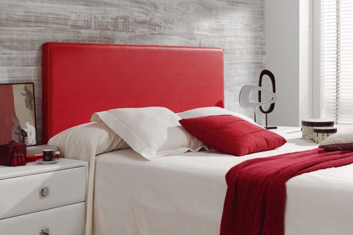 Foto cabecero tapizado rojo barato foto 197539 - Cabezales de forja modernos ...
