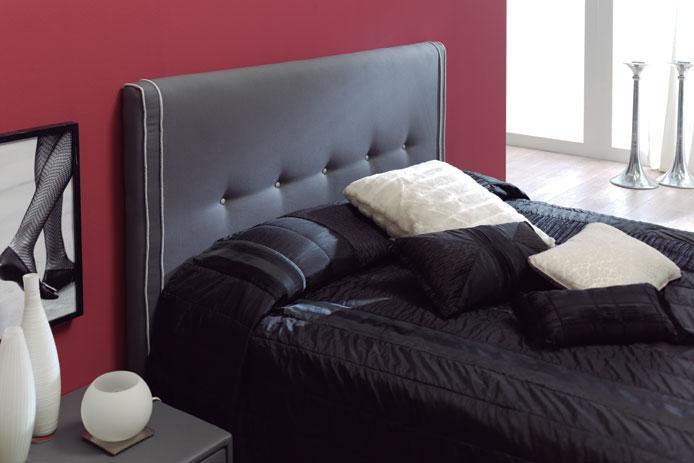 Foto cabecero tapizado tela gris barato foto 120477 - Cabeceros tapizados fotos ...