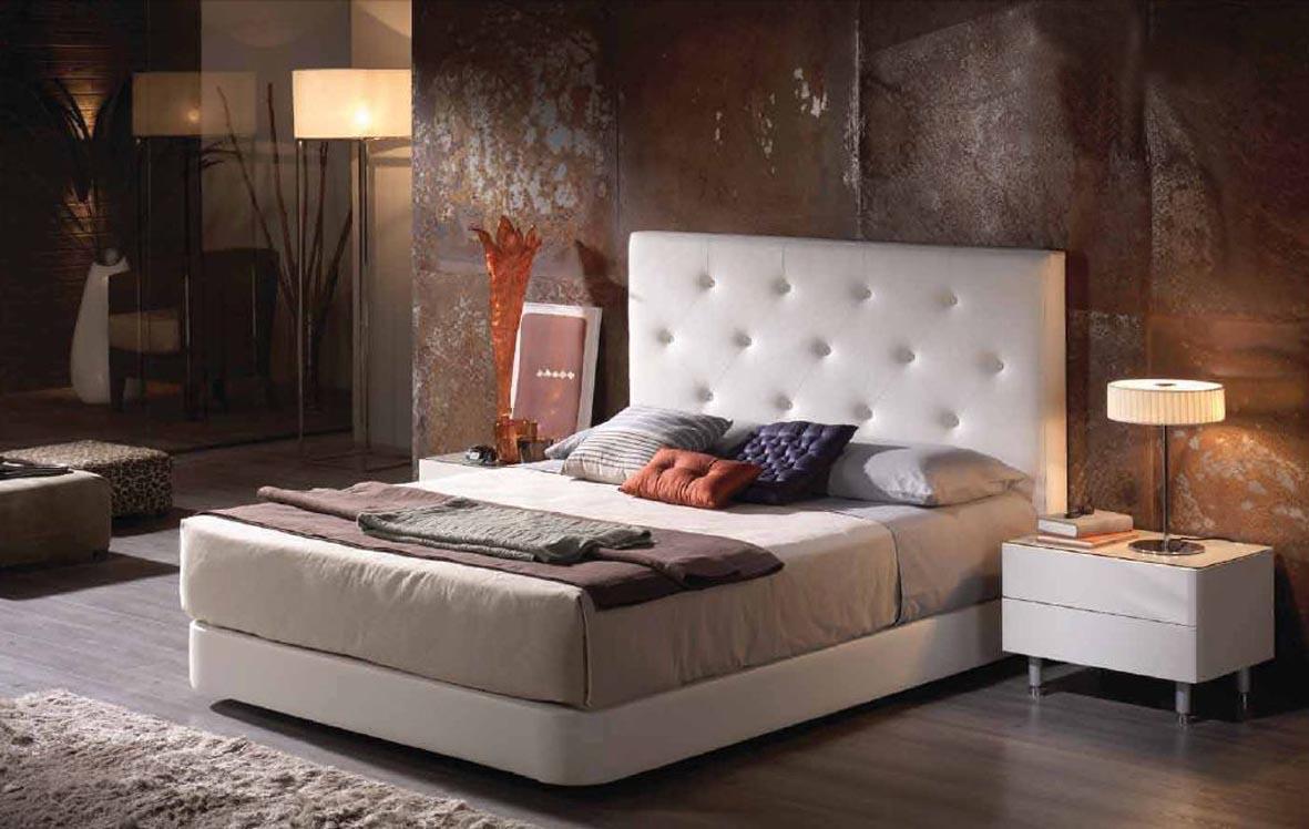 Foto cabeceros tapizados modelo alicante ld blanco foto for Cabeceros tapizados fotos