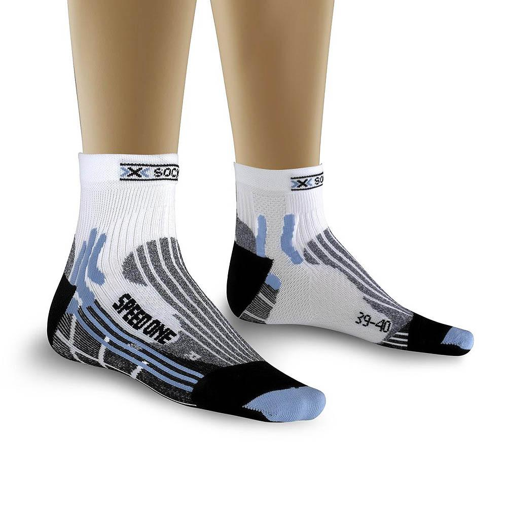 Foto Calcetines X-Socks Speed One Lady blanco azul claro mujer