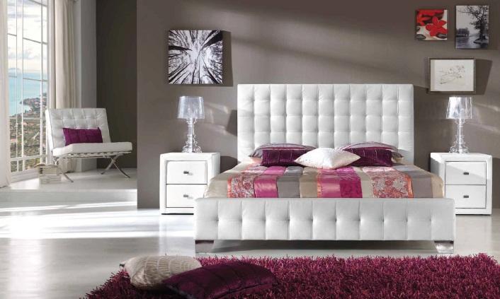 Foto cama con cabezal carol tapizado foto 329746 - Cabezal de cama tapizado ...