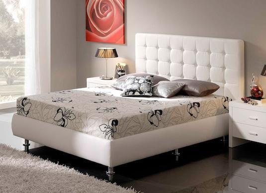 Foto cama con cabezal y div n abatible mod eva 160x200 for Muebles de casa net