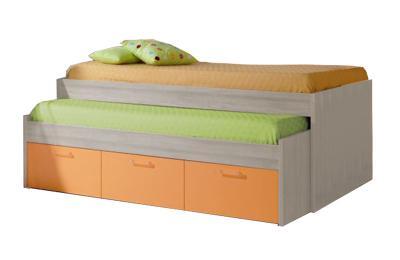 Foto cama 3 cajones para colchones de 190x90 modelo for Cama nido con cajones ikea