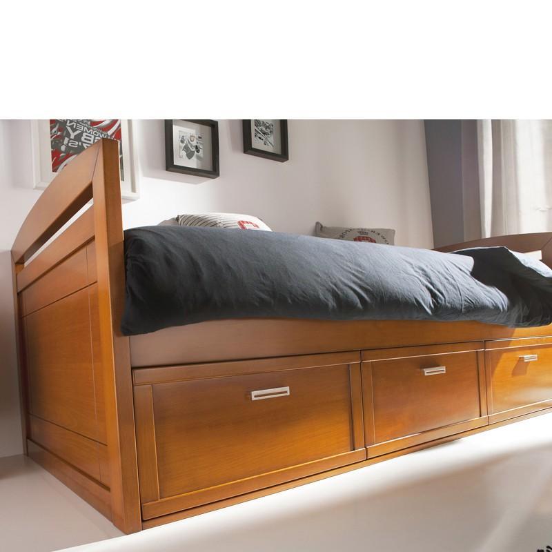 Foto cama nido con respaldo y 3 cajones foto 216210 - Camas de 90 con cajones ...