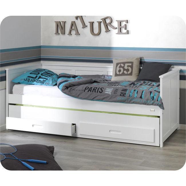 Foto cama nido juvenil 90x200cm swam blanca cama nido for Escritorio para cama nido