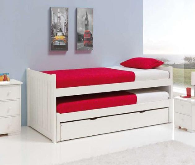 Foto mesas de centro de madera y cristal modelo dulia for Camas nido triples precios