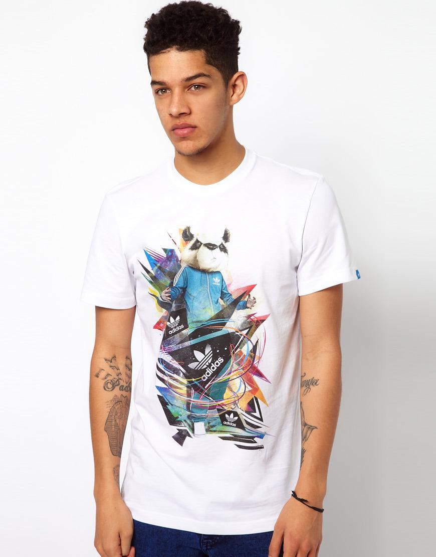 Foto Camiseta con estampado de panda de Adidas Originals Blanco foto 226443