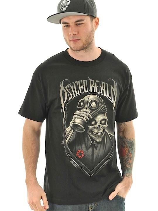 Foto Tribal Streetwear Psycho Camiseta Negro Realm 755937 7YyIfbg6vm