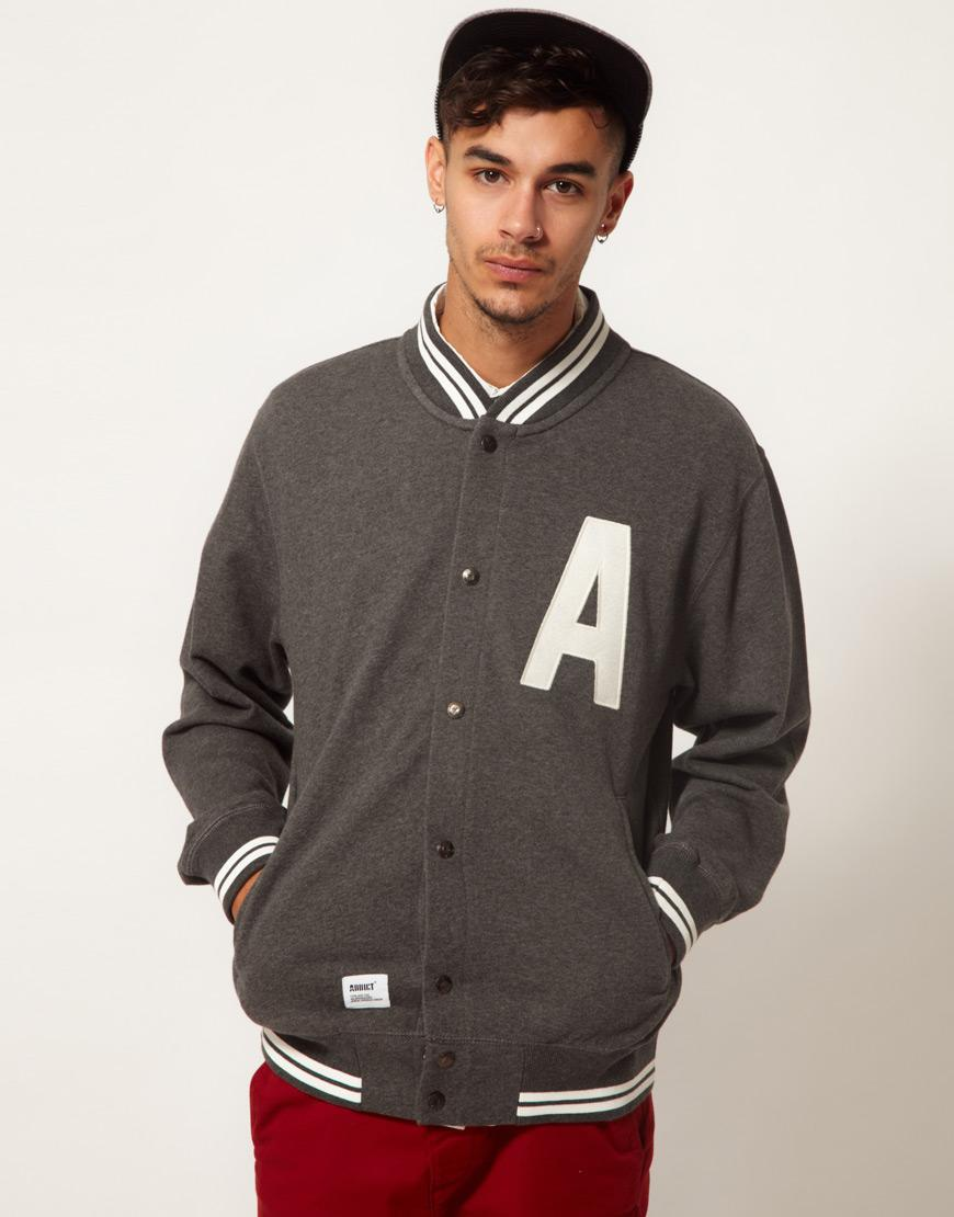 Foto Chaqueta estilo sudadera universitaria League Capital de Addict Gris