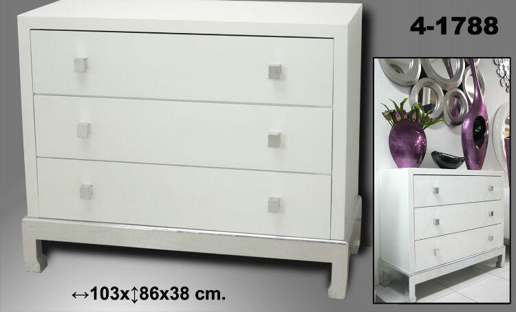 Foto comoda lacada blanca nalon foto 682422 - Comoda blanca conforama ...