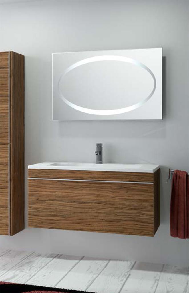 Foto conjunto de mueble de ba o salgar hermes 100 con - Mueble de bano madera ...