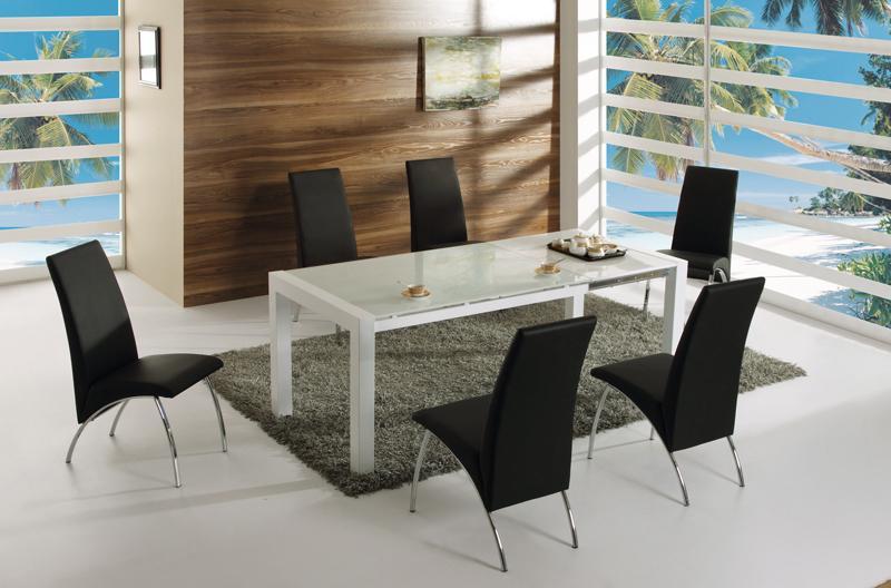 Foto conjunto mesa 4 sillas negras mod hamburgo trevi for Sillas negras comedor