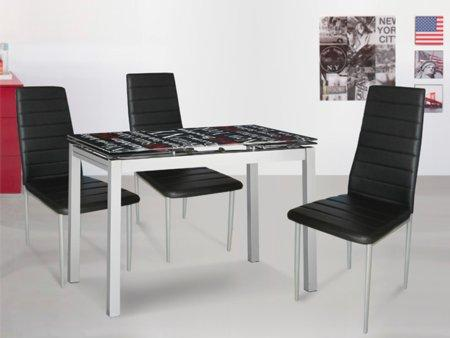 Foto mesa extensible de comedor con sillas foto 30210 for Akasa muebles