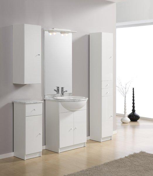 Foto mueble auxiliar de ba o 2 puertas 50 cm blanco for Mueble bano 50 cm