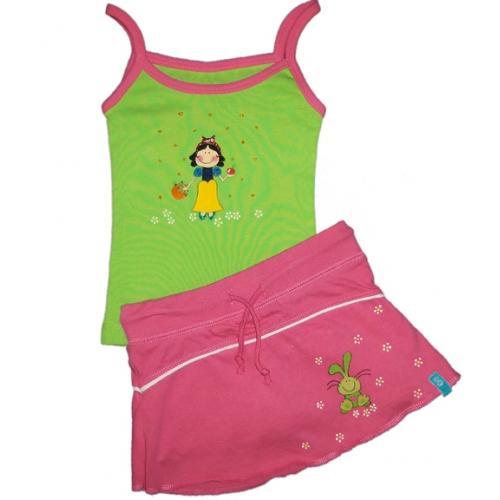 Foto Conjunto niña camiseta tirantes y falda pantalón foto 73444
