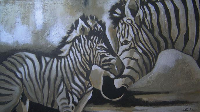 Pinturas tripticas de cebras imagui - Cuadros de cebras ...
