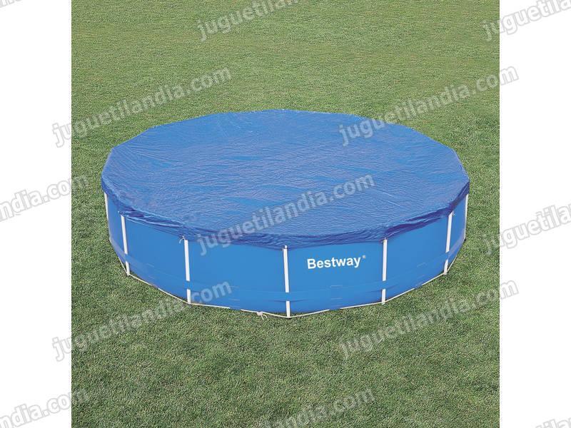 Foto cobertor solar de piscina rectangular bestway foto 351939 for Cubre piscina bestway