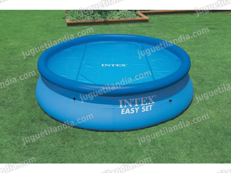 Foto cubre piscinas 534 cm solar intex 59955 foto 419859 - Fotos de piscinas intex ...