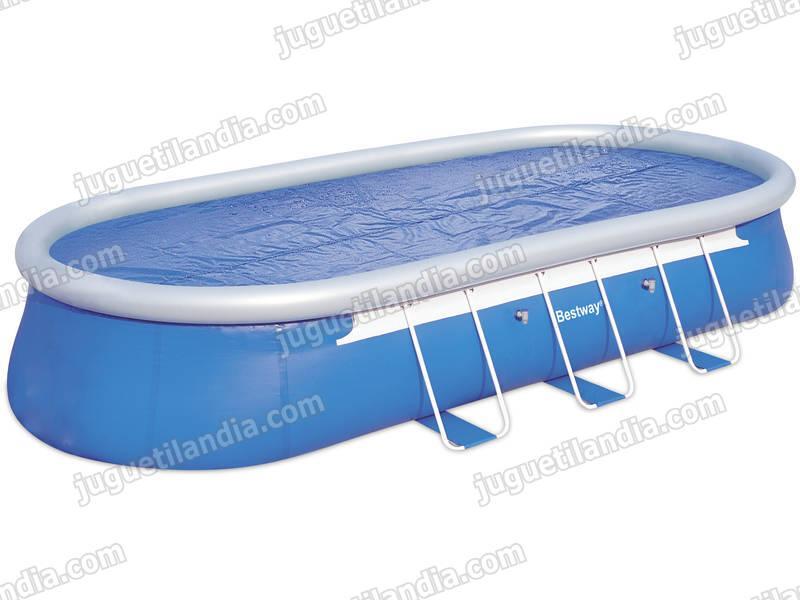 Foto cubre piscinas 645x330cm bestway 58153 solar foto 438037 for Cubre piscina bestway