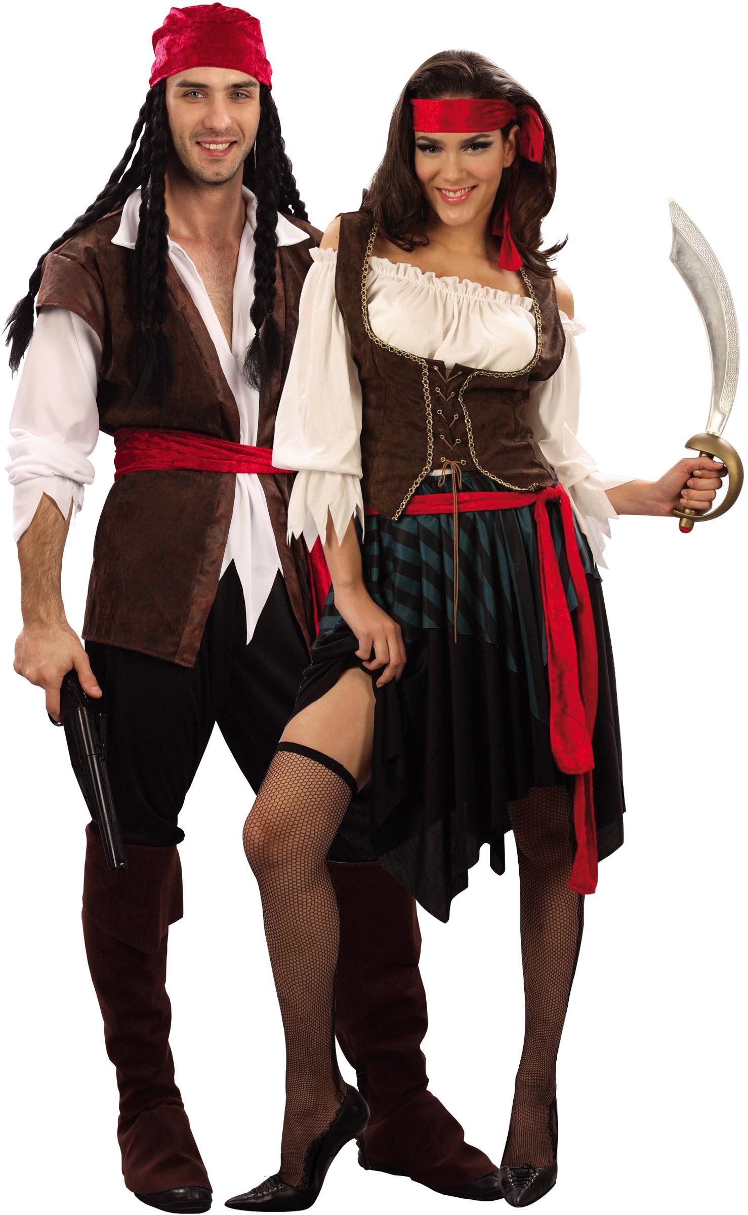 Foto disfraz de pareja de pirata de lujo foto 9115 - Trajes de carnaval de epoca ...