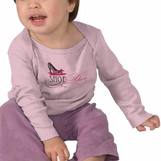 Foto Diva del zapato de bebé Camiseta foto 553168