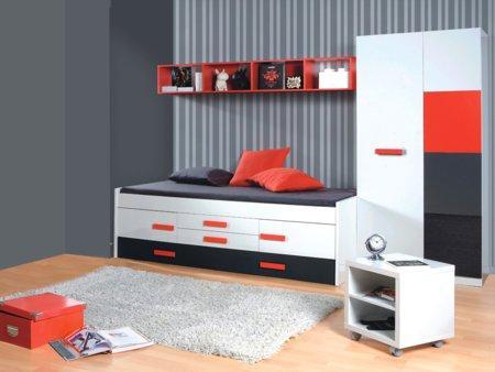 Foto mueble para tv de sal n en blanco alto brillo foto 395738 - Dormitorio juvenil doble cama ...