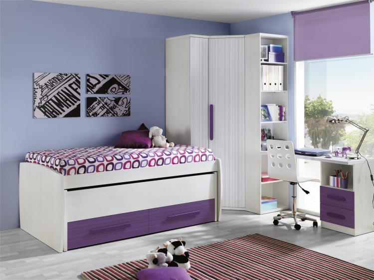 Foto dormitorio juvenil l 24 foto 299142 - Armarios de rinconera ...