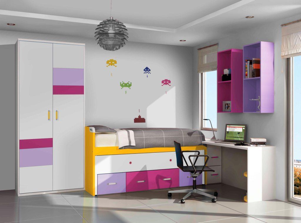 Foto cuadros bajorrelieve c vitrina modelo luna foto 272444 for Marcas de muebles juveniles