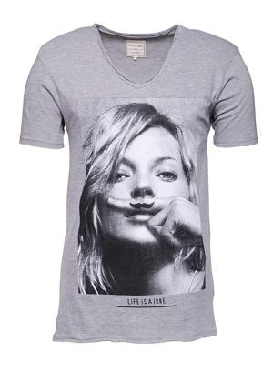 Foto Eleven Paris KM T-Shirt Grey Chine M - Camiseta