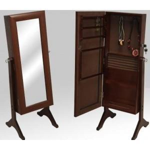 Foto espejo con pie joyero de madera con llave foto 733553 for Espejo pie madera