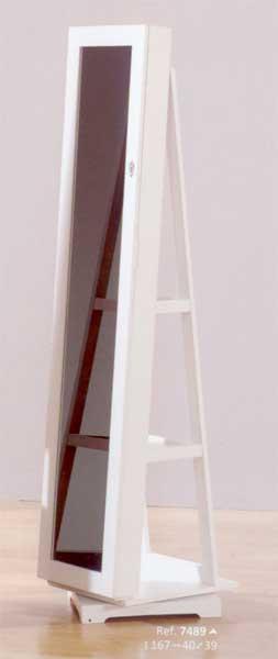 Foto espejo joyero giratorio blanco foto 314004 for Espejo ovalado blanco